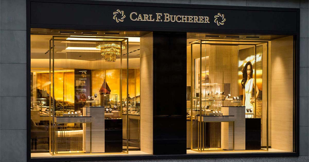 Elegant mutet die neue Bucherer-Boutique in Luzern an – Gold spielt eine große Rolle beim Interieur.