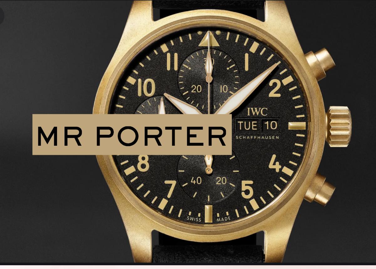 Das Mr Porter-Jubiläumsmodell von IwC ist natürlich nur online auf mrporter.com erhältlich.