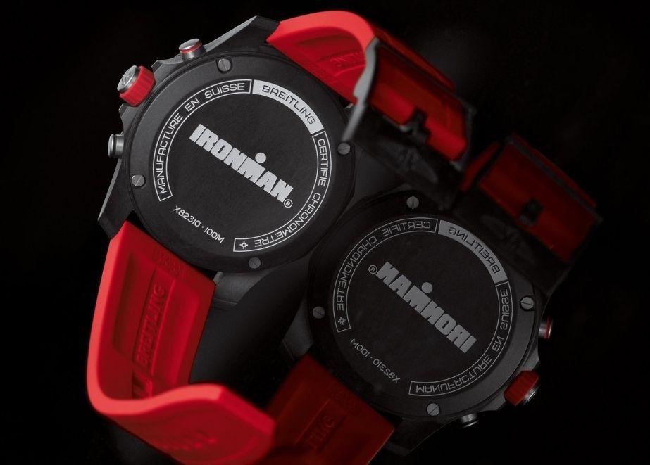 Anstelle des Breitling Schriftzugs trägt die Endurance Pro Ironman einen einzigartigen Ironman-Schriftzug.