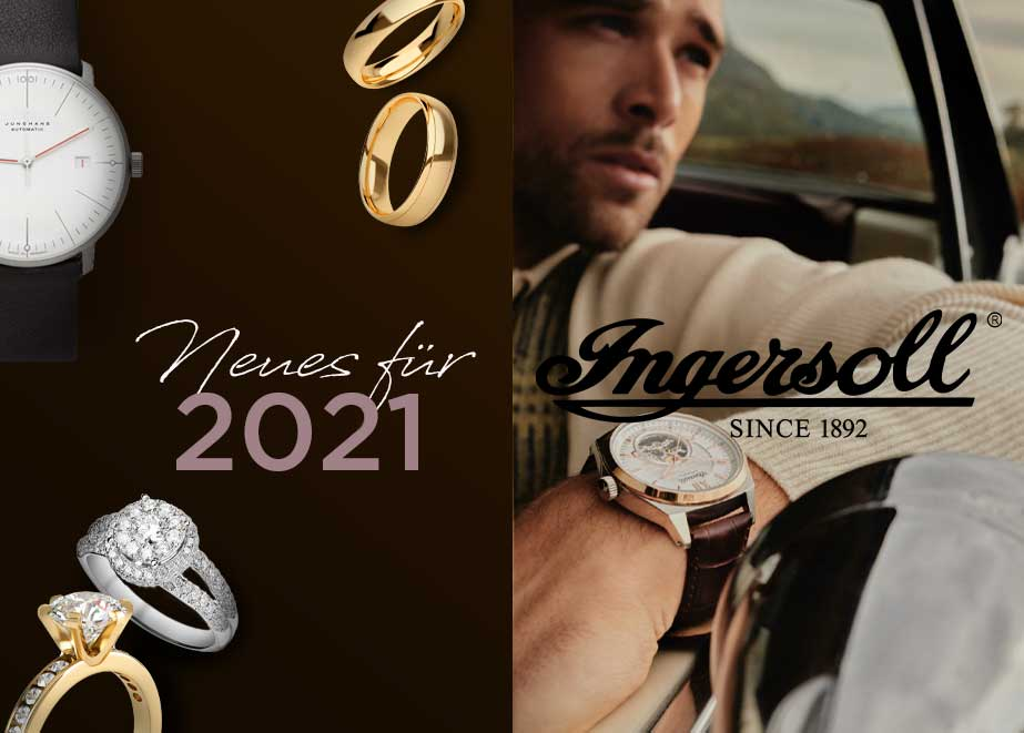 Vom klassischen Zeitmesser, bis zur Automatik- oder Skelett-Uhr – Juweliere und Uhrenfachhändler werden im Portfolio von Ingersoll schnell fündig.