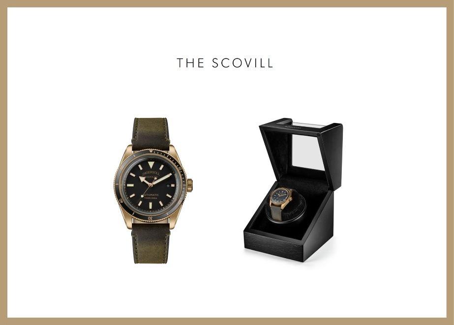 The Scovill 105007 limited Edition, 300 Stück: Automatikuhr mit 43mm Gehäuse, Datumsfunktion, geliefert im Uhrenbeweger.