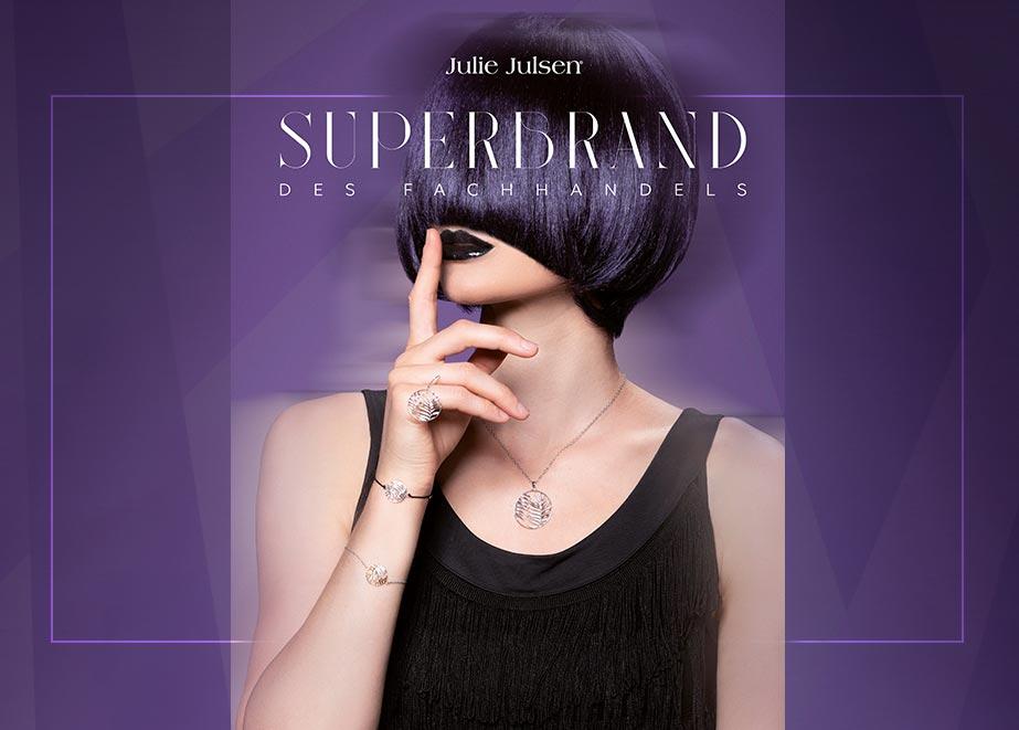 Eine weitere Silberschmuck-Superbrand-Marke ist Julie Julsen mit immer wieder neuen und kreativen Kreationen.