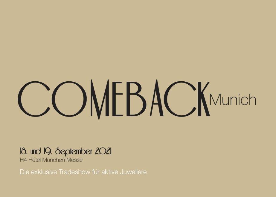 """Registrieren Sie sich jetzt kostenlos für die """"Comeback Munich""""."""