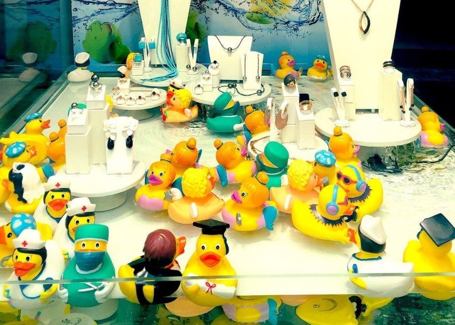 Weitere Deko-Möglichkeit: Bade-Enten