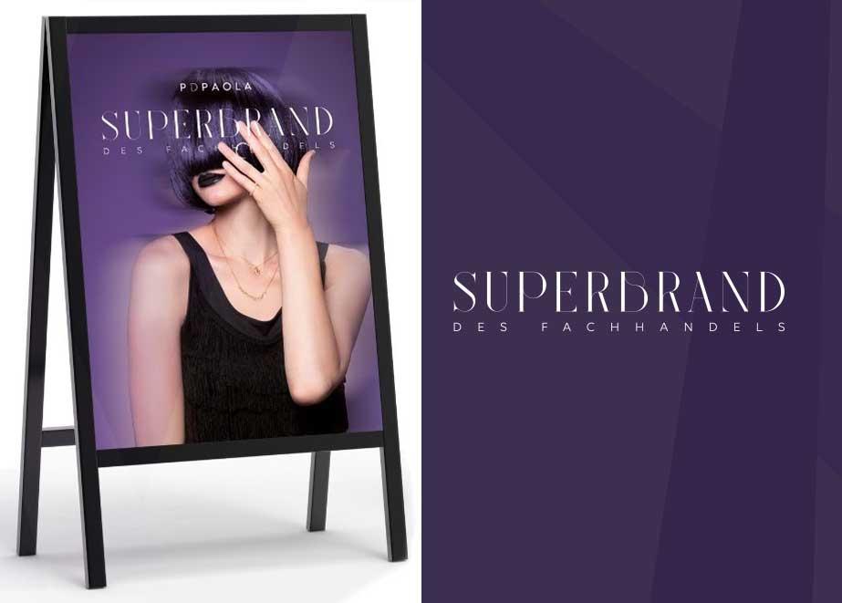 Das Superbrand-Plakat Ihres Herstellers kann Ihnen mehr Umsatz bringen.
